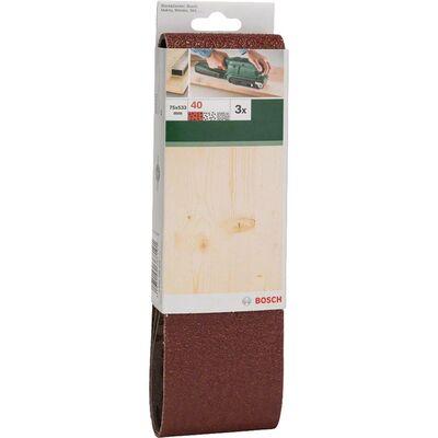 ank Zımpara Kağıdı 3'lü, 75 x 533 mm 40 Kum BOSCH