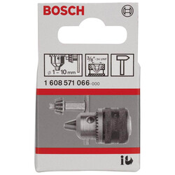 Bosch 1-10 mm - 3/8''-24 Anahtarlı Mandren - Thumbnail