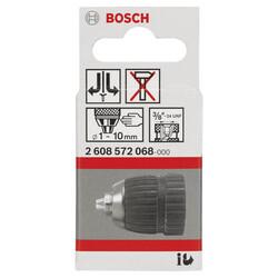 Bosch 1-10 mm - 3/8''-24 Anahtarsız Mandren - Thumbnail