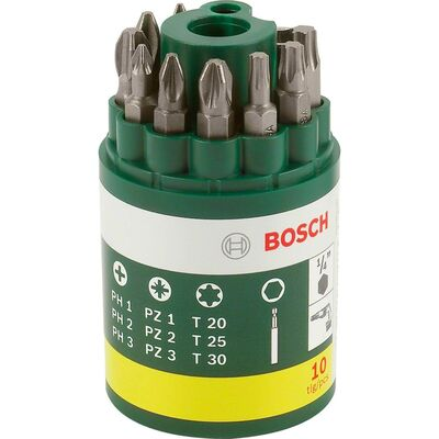 Bosch 10 Parça Vidalama Ucu Seti (PH+PZ+T)