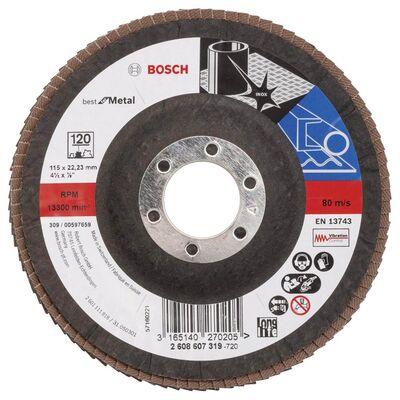 Bosch 115 mm 120 Kum Best Serisi Metal Flap Disk