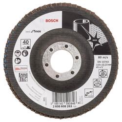 Bosch 115 mm 40 Kum Best Serisi Inox Flap Disk - Thumbnail