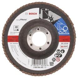 Bosch 115 mm 40 Kum Best Serisi Metal Flap Disk - Thumbnail