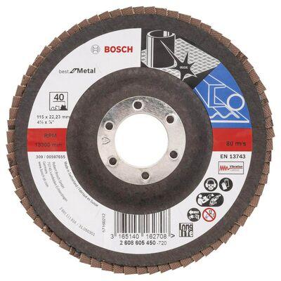 Bosch 115 mm 40 Kum Best Serisi Metal Flap Disk