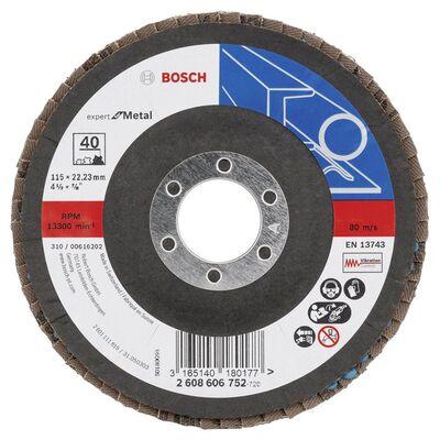 Bosch 115 mm 40 Kum Expert Serisi Metal Flap Disk