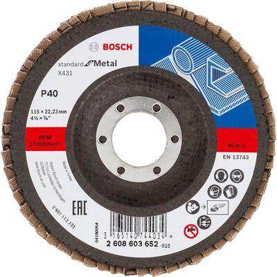 Bosch 115 mm 40 Kum Standard Seri AlOX Flap Disk