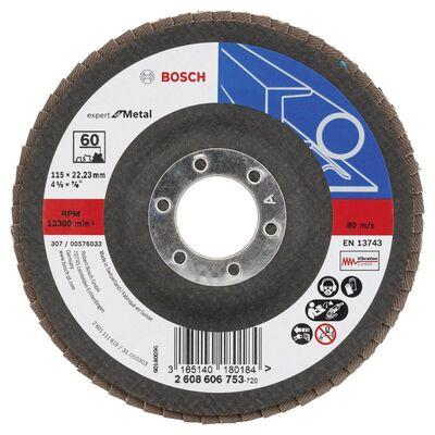 Bosch 115 mm 60 Kum Expert Serisi Metal Flap Disk