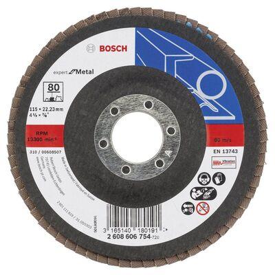Bosch 115 mm 80 Kum Expert Serisi Metal Flap Disk