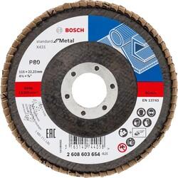 Bosch 115 mm 80 Kum Standard Seri AlOX Flap Disk - Thumbnail