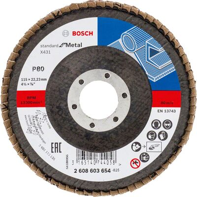 Bosch 115 mm 80 Kum Standard Seri AlOX Flap Disk