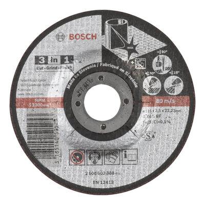 Bosch 115*2,5 mm Kesme, Taşlama, Son Perdah 3in1 Disk