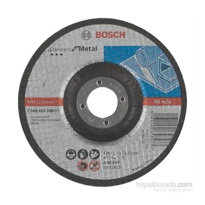 Bosch 115*2,5 mm Standard Seri Bombeli Metal Kesme Diski (Taş)