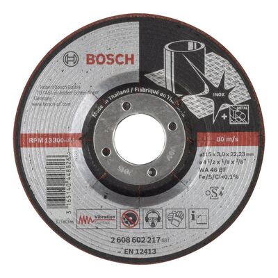 Bosch 115*3,0 mm Yarı Esnek Inox (Paslanmaz Çelik) Taşlama Diski