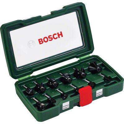 Bosch 12 Parça Freze Seti 8 mm Şaftlı