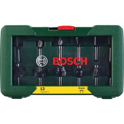 Bosch 12 Parça Freze Seti 8 mm Şaftlı BOSCH