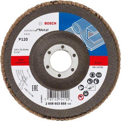 Bosch 125 mm 120 Kum Standard Seri AlOX Flap Disk