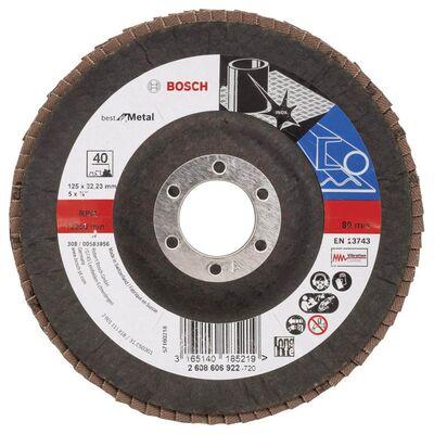 Bosch 125 mm 40 Kum Best Serisi Metal Flap Disk