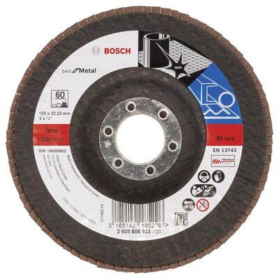 Bosch 125 mm 60 Kum Best Serisi Metal Flap Disk