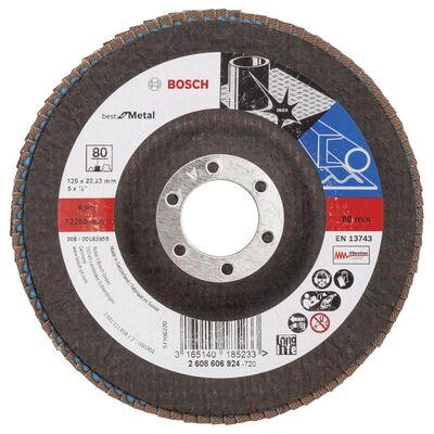 Bosch 125 mm 80 Kum Best Serisi Metal Flap Disk