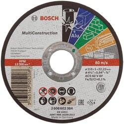 Bosch 125*1,0 mm Çoklu Malzemelerde Kullanım İçin Düz Kesme Diski (Taş) - Thumbnail