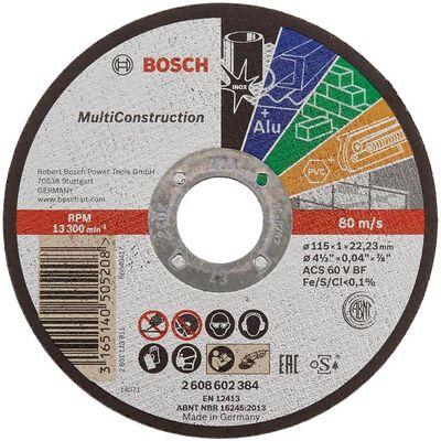 Bosch 125*1,0 mm Çoklu Malzemelerde Kullanım İçin Düz Kesme Diski (Taş)