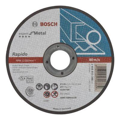 Bosch 125*1,0 mm Expert Serisi Düz Metal Kesme Diski (Taş) - Rapido