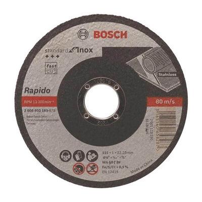 Bosch 125*1,6 mm Standard Seri Düz Inox (Paslanmaz Çelik) Kesme Diski (Taş)