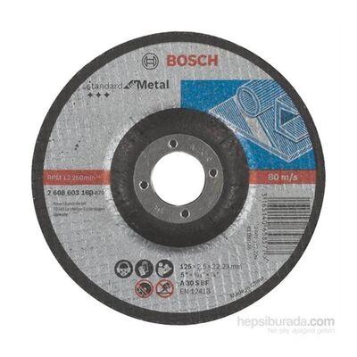 Bosch 125*2,5 mm Standard Seri Bombeli Metal Kesme Diski (Taş)