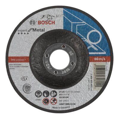 Bosch 125*3,0 mm Expert Serisi Bombeli Metal Kesme Diski (Taş)