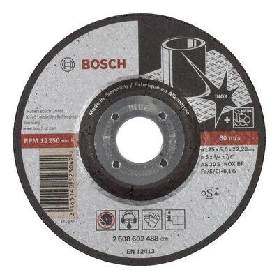 Bosch 125*6,0 mm Expert Serisi Bombeli Inox (Paslanmaz Çelik) Taşlama Diski (Taş)