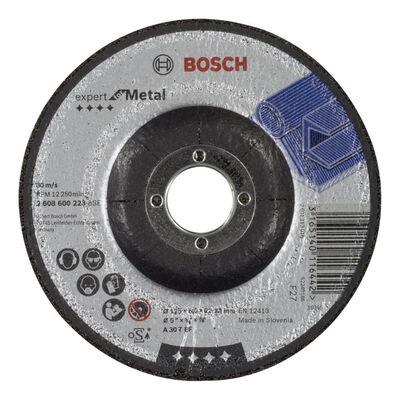 Bosch 125*6,0 mm Expert Serisi Bombeli Metal Taşlama Diski (Taş)