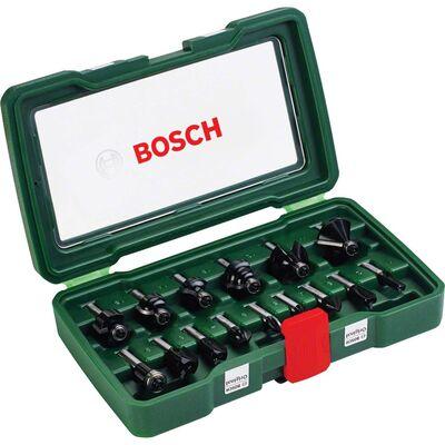 Bosch 15 Parça Freze Seti 8 mm Şaftlı
