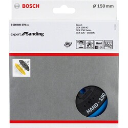 Bosch 150 mm Çok Delikli Zımp. Tabanı Sert (GEX) - Thumbnail