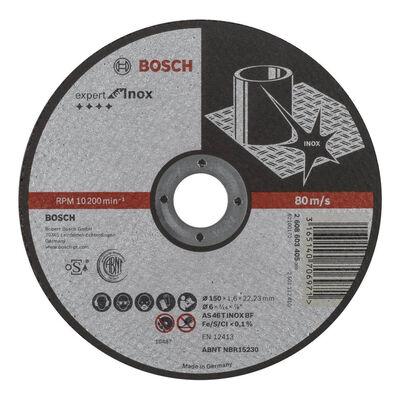 Bosch 150*1,6 mm Expert Serisi Düz Inox (Paslanmaz Çelik) Kesme Diski (Taş)