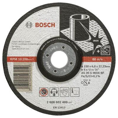 Bosch 150*6,0 mm Expert Serisi Bombeli Inox (Paslanmaz Çelik) Taşlama Diski (Taş)