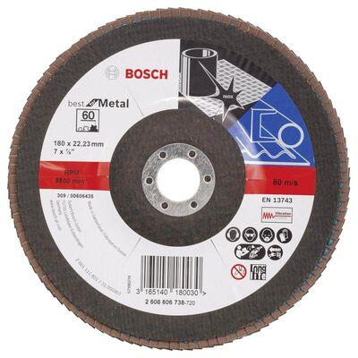 Bosch 180 mm 60 Kum Best Serisi Metal Flap Disk