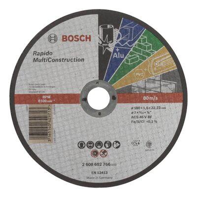 Bosch 180*1,6 mm Çoklu Malzemelerde Kullanım İçin Düz Kesme Diski (Taş)