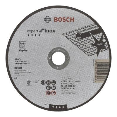 Bosch 180*1,6 mm Expert Serisi Düz Inox (Paslanmaz Çelik) Kesme Diski (Taş) - Rapido