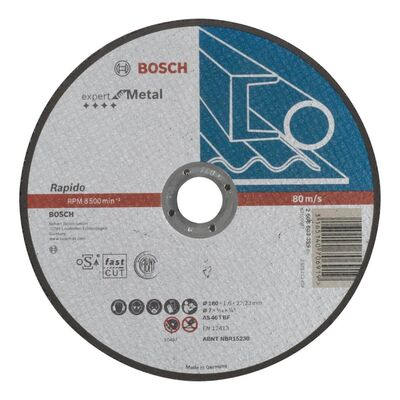 Bosch 180*1,6 mm Expert Serisi Düz Metal Kesme Diski (Taş) - Rapido