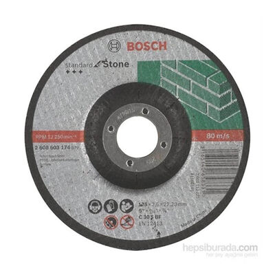 Bosch 180*3,0 mm Standard Seri Bombeli Taş Kesme Diski (Taş)