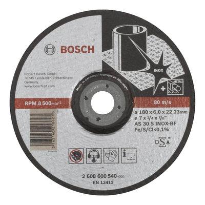 Bosch 180*6,0 mm Expert Serisi Bombeli Inox (Paslanmaz Çelik) Taşlama Diski (Taş)
