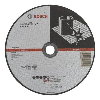 Bosch 230*1,9 mm Expert Serisi Düz Inox (Paslanmaz Çelik) Kesme Diski (Taş) - Rapido