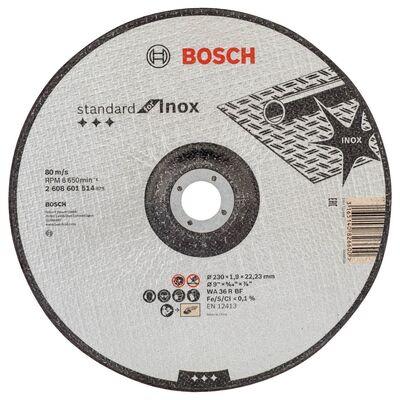 Bosch 230*1,9 mm Standard Seri Düz Inox (Paslanmaz Çelik) Kesme Diski (Taş)