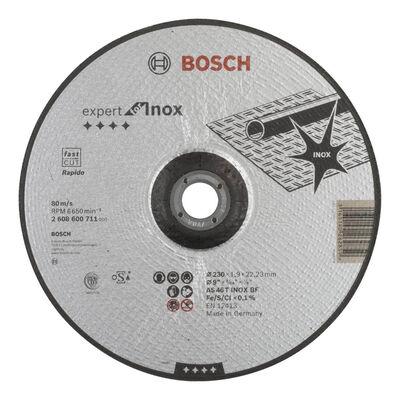 Bosch 230*1,9mm Expert Serisi Bombeli Inox (Paslanmaz Çelik) Kesme Diski (Taş) - Rapido