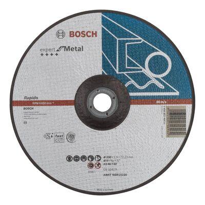 Bosch 230*1,9mm Expert Serisi Bombeli Metal Kesme Diski (Taş) - Rapido