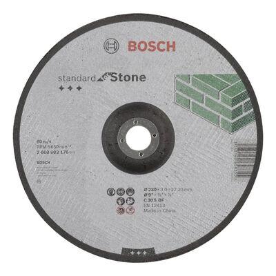 Bosch 230*3,0 mm Standard Seri Bombeli Taş Kesme Diski (Taş)