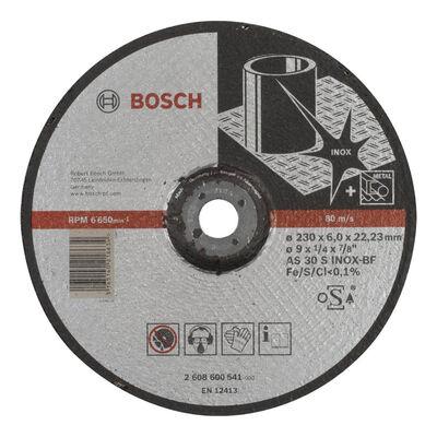 Bosch 230*6,0 mm Expert Serisi Bombeli Inox (Paslanmaz Çelik) Taşlama Diski (Taş)