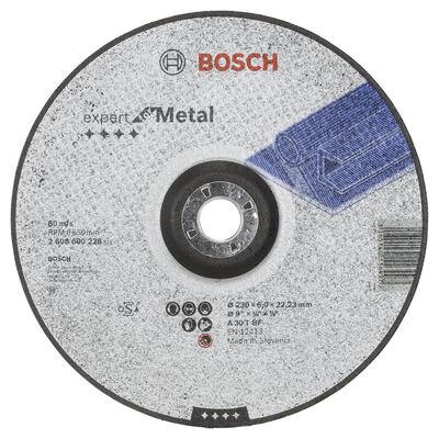Bosch 230*6,0 mm Expert Serisi Bombeli Metal Taşlama Diski (Taş)