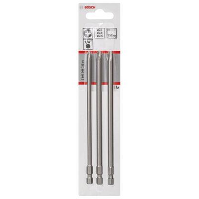 Bosch 3 Parçalı Extra Hard Serisi Vidalama Ucu Seti PH1/2/3*152 mm BOSCH