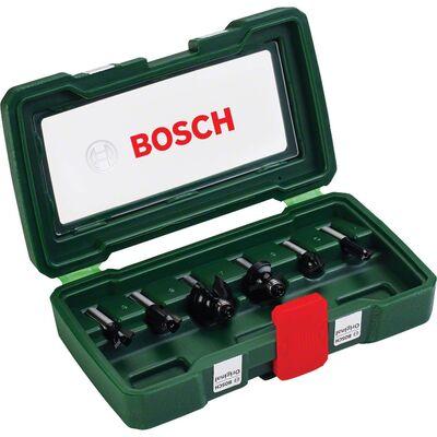 Bosch 6 Parça Freze Seti 8 mm Şaftlı